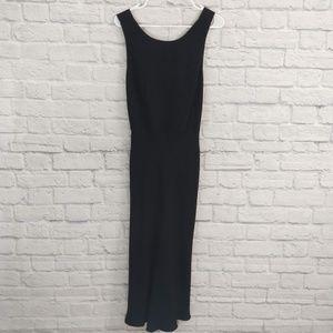 Ann Taylor | Black Cross Back Tulip Bottom Dress